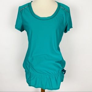 ATHLETA Green Wick It Run Tunic Active Tee
